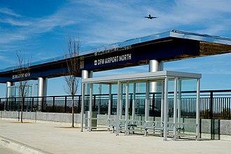DFW Airport North station - Image: TEX Rail DFW North 2018 2