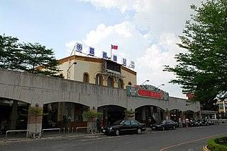 Railway station located in Chiayi, Taiwan.