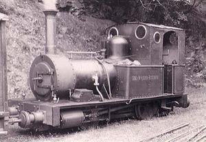 1951 in rail transport - Talyllyn Railway No. 2 Dolgoch at Abergynolwyn in 1951