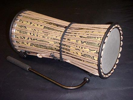 The talking drum is an instrument unique to West Africa. TalkingDrum.jpg
