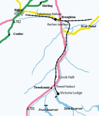 Talla Railway - Schematic map