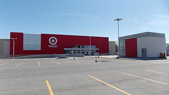 Target Canada - The Target store built at the Bayshore Shopping Centre in Ottawa, Ontario. It never opened to the public, with its signage logo still intact, and was subsequently sold to Walmart in 2015.