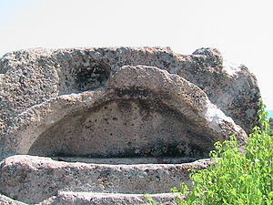 Tatul - The stone sarcophagus of an important Thracian ruler in Tatul