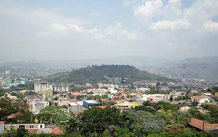 Looking west towards Juan A. Lainez Hill Tegucigalpa Cerro Juan A. Lainez.jpg