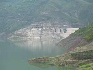 Tehri Dam - Tehri dam in July 2008