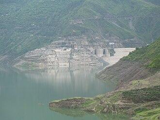 Tehri Dam - Tehri dam in July 2008