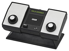 Photo of a dedicated video game console with two knobs.