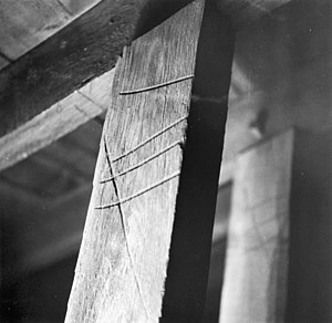 Race knife - A common example of carpenter's marks made with a race knife- Amsterdam - 20377790 - RCE