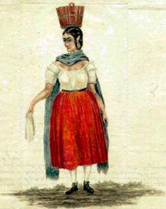 Teresita Sandoval - Teresita Sandoval as sketched by Alexander Barclay in 1853. Photo Courtesy of Colorado Historical Society