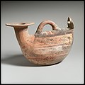Terracotta askos (flask with a spout and handle over the top) MET DP1449.jpg