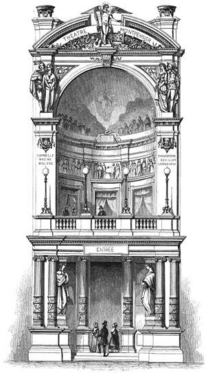 Théâtre Historique - Design for the facade of the Théâtre Historique (1846)