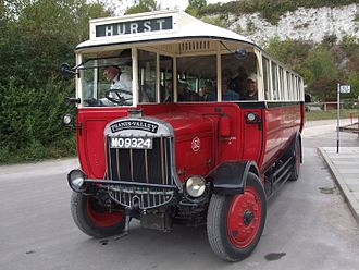 Thames Valley Traction - A preserved Thames Valley 1927 Tilling-Stevens B9A bus at Amberley Museum & Heritage Centre