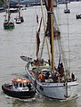 Thames barge parade - about to turn downstream - Reminder 6755c.JPG