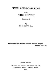 The Anglo-Saxon and the Hindu.djvu
