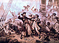 The Capture of the Pirate Blackbeard 1718 by Jean Leon Gerome Ferris (retouched).jpg