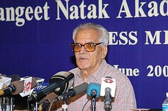 Deputy Chairman of the Rajya Sabha - Image: The Chairman, Sangeet Natak Akademi, Shri Ram Niwas Mirdha addressing the Press in New Delhi on June 09, 2005