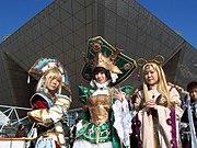 Japanische Cosplayer auf dem Comiket in Tokio