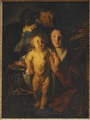 The Holy Family by Candlelight (Jacob Jordaens) - Nationalmuseum - 18772.tif