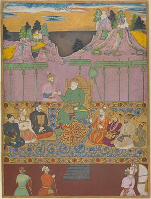 "Adil Shahi dynasty - A painting of ""The House of Bijapur"" was completed in the year 1680, during the reign of Sikandar Adil Shah the last ruler of the Adil Shahi dynasty."
