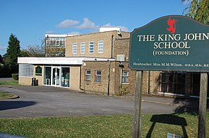 The King John School - Image: The King John School, Thundersley geograph.org.uk 905481