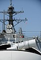 The Laser Weapon System (LaWS) is temporarily installed aboard USS Dewey. (8634864797).jpg