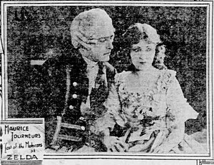 George Hackathorne - Newspaper ad with George Hackathorne and Lillian Hall in The Last of the Mohicans (1920)