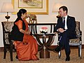 The Leader of Opposition in Lok Sabha, Smt. Sushma Swaraj meeting the President of the Russian Federation, Mr. Dmitry A. Medvedev, in New Delhi on December 21, 2010.jpg
