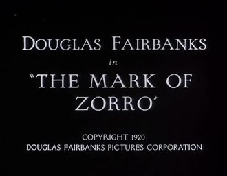 Fichier:The Mark of Zorro (1920).webm