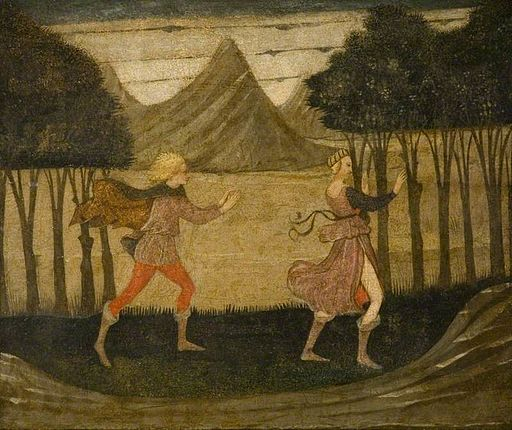The Master of the Judgement of Paris - Daphne pursued by Apollo (Barber Institute)
