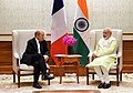 The Minister for Europe and Foreign Affairs of France, Mr. Jean-Yves Le Drian calls on the Prime Minister, Shri Narendra Modi, in New Delhi on November 17, 2017 (1).jpg