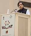 The Minister of State for Human Resource Development, Dr. Shashi Tharoor addressing the International Conference on Alliance for Literacy, Peace and Development in South Asia, in New Delhi on September 07, 2013.jpg