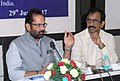 The Minister of State for Minority Affairs (Independent Charge) and Parliamentary Affairs, Shri Mukhtar Abbas Naqvi addressing the 76th meeting of the Central Waqf Council, in New Delhi on June 29, 2017.jpg