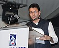 The Minister of State for Petroleum & Natural Gas, Shri Jitin Prasada addressing at the inauguration of the 9th Petrotech International Oil & Gas exhibition, in New Delhi on October 31, 2010.jpg