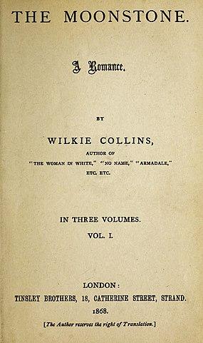 Лунный камень.Первое издание 1868.Титул