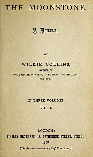 The Moonstone - First edition title page