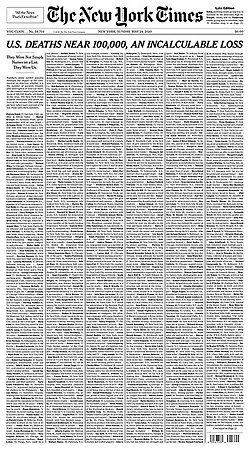 The New York Times, front page 24 May 2020.jpg