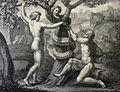 The Phillip Medhurst Picture Torah 18. Temptation of Adam and Eve. Genesis cap 3 v 6. after Raphael.jpg