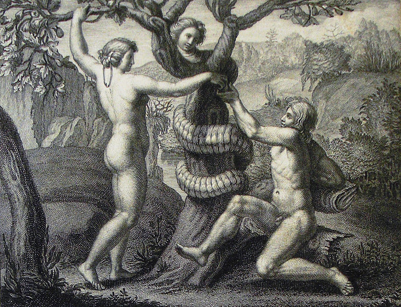 File:The Phillip Medhurst Picture Torah 18. Temptation of Adam and Eve. Genesis cap 3 v 6. after Raphael.jpg
