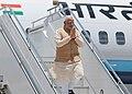 The Prime Minister, Shri Narendra Modi arrives at Paro International Airport, in Bhutan on June 15, 2014 (1).jpg