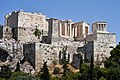 The Propylaea from the Areopagus on July 8, 2019.jpg