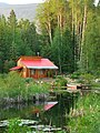 The Red Cabin by the Pond (3630182422).jpg