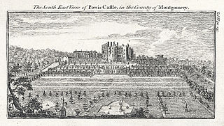 The South East View of Powis Castle, in the County of Montgomery