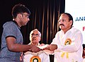 The Vice President, Shri M. Venkaiah Naidu awarding certificates to the Students at the Founder's Day Celebrations of Andhra Education Society, in New Delhi on July 15, 2018 (2).JPG