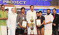 The Vice President, Shri M. Venkaiah Naidu conferring the Adi Shankara Young Scientist Awards 2018, at the Adi Shankara Institute of Engineering & Technology, in Kochi, Kerala (1).JPG