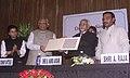 The Vice President, Shri Mohd. Hamid Ansari and the Speaker, Lok Sabha, Shri Somnath Chatterjee at the release function of a commemorative Postage Stamp on late Dr. Laxmi Mall Singhvi, in New Delhi on December 8, 2008.jpg