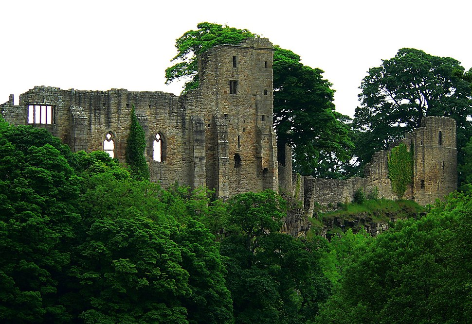 The castle at Barnard Castle - by Francis Hannaway