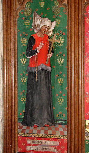 Julian of Norwich - Julian of Norwich, as depicted in the church of Ss Andrew and Mary, Langham, Norfolk