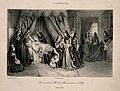 The deathbed of Madame de Maintenon at the Maison Royale de Wellcome V0006890.jpg