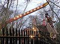 The demolition of Petts Wood Junction footbridge. (32846027012).jpg