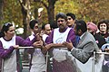The former Indian Cricket, Shri Kapil Dev holding the Queen`s Baton on the occasion of the launching ceremony of the Queens Baton Relay, in London on October 29, 2009.jpg